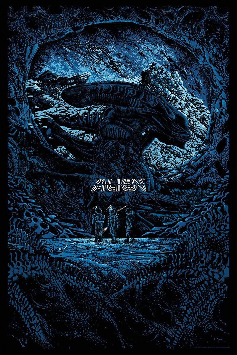 Alien Day Posters By Jay Shaw Mike Saputo And Kilian Eng From Mondo Ksenomorf Graficheskie Postery Prishelcy