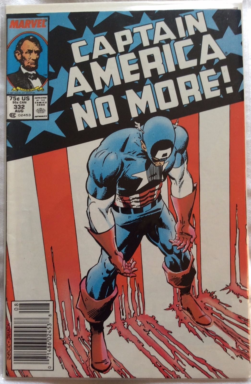 Captain America 1st Series 332 Marvel Comics Dated 8 1 1987 Captain America Comic Books Captain America Comic Comic Covers