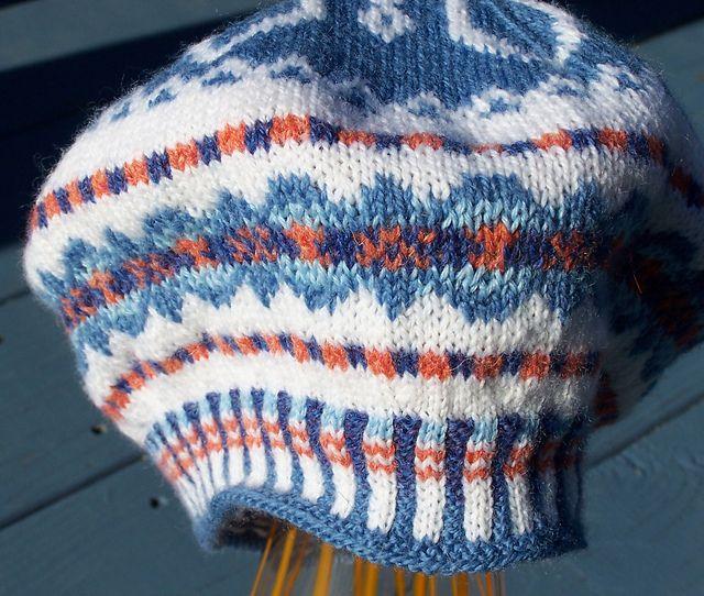 Walnut Street Snowflake Tam pattern by Donna Ritchie   Knitting Hats ...