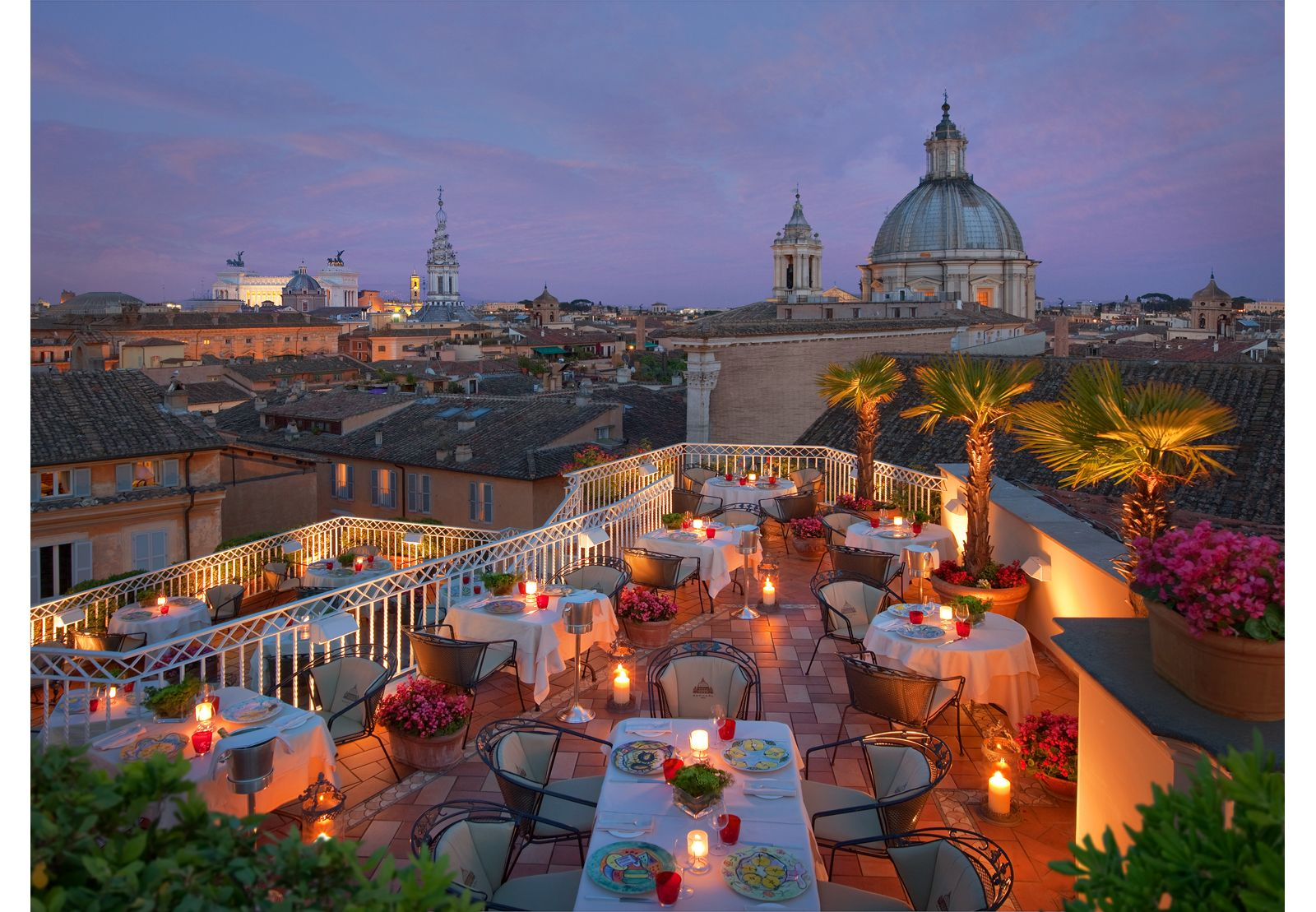 The Terrace On Top Of The Raphael Hotel Rome Best Rooftop