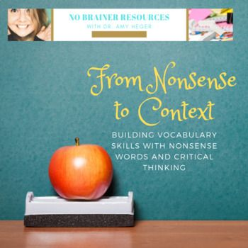 From Nonsense to Context Lesson #2 | Silly words, Nonsense ...