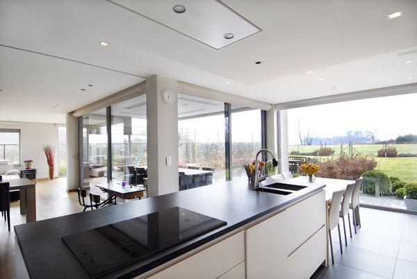 Prachtige open leefruimte open keuken pinterest open keuken keuken en verlichting - Keuken open concept ...