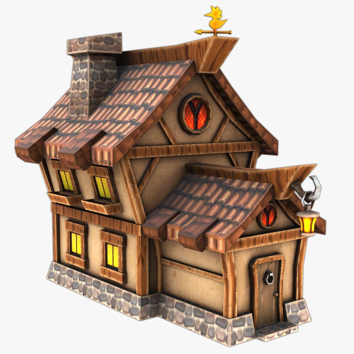 3d House Games Model House 3d Model Cartoon House House Games