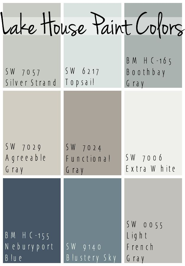 The Best Lake House Paint Colors Calming Blue And Gray Tones That All Coordinate For