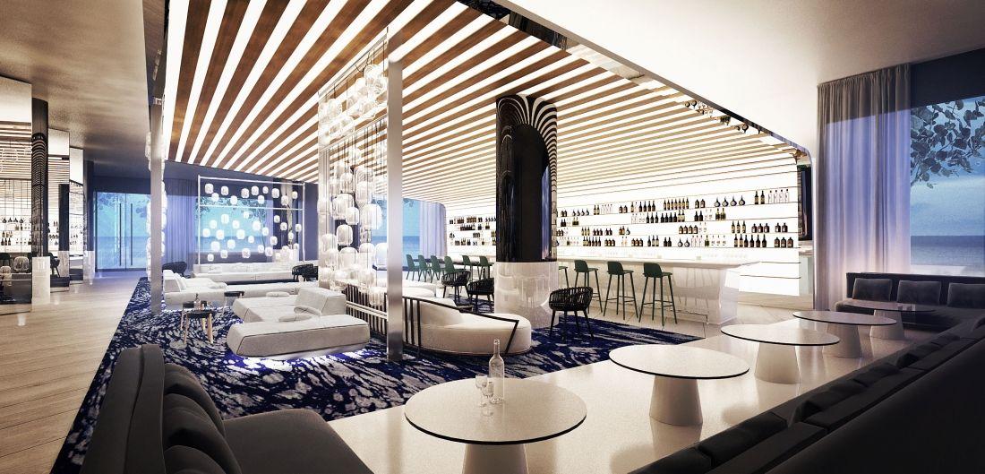 Meyer Davis W Hotel Interior Design Fffun Two Bedroom Floor Plan Bedroom Floor Plans Bar Lounge