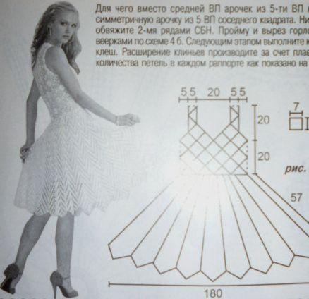 платье, крючком,