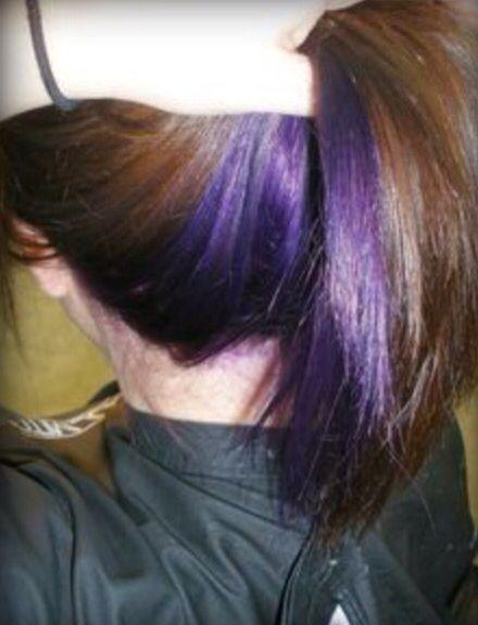 Under The Head Purple Purple Underneath Hair Blue Hair Underneath Under Hair Color