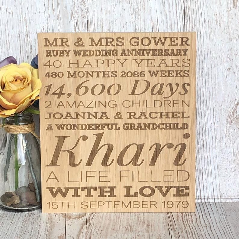 Custom Personalised Engraved Photo On Wood Memorial Aniversary Wedding Gift D4