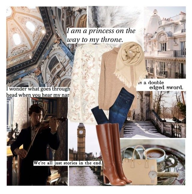 """""The life given us, by nature is short; but the memory of a well-spent life is eternal."" ― Marcus Tullius Cicero"" by azomyr20 ❤ liked on Polyvore featuring Prada, Vilshenko, MANGO, rag & bone, Tory Burch, Isabel Marant and Olivia Burton"