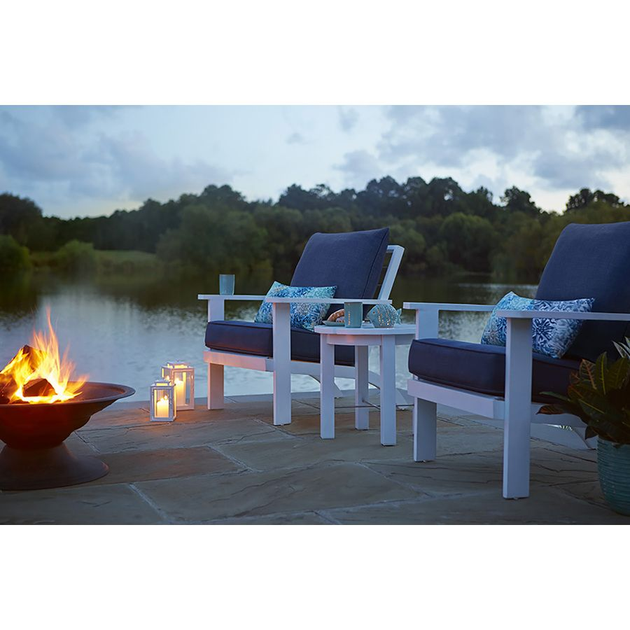 Shop Allen + Roth Cape Cottage Patio Conversation Chair At Lowes.com