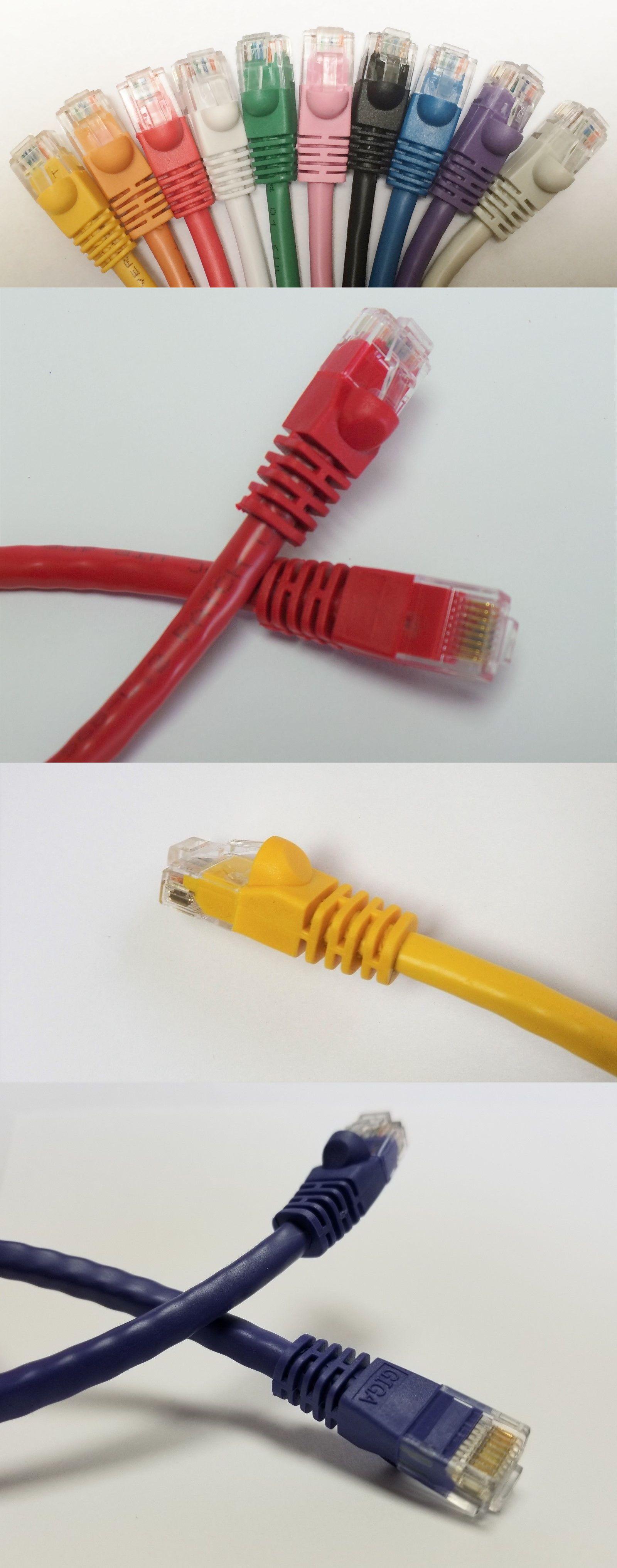 5ft CAT5e Ethernet Patch Cable Cord 350 MHz RJ45 10 Pack Lot Pick Colors