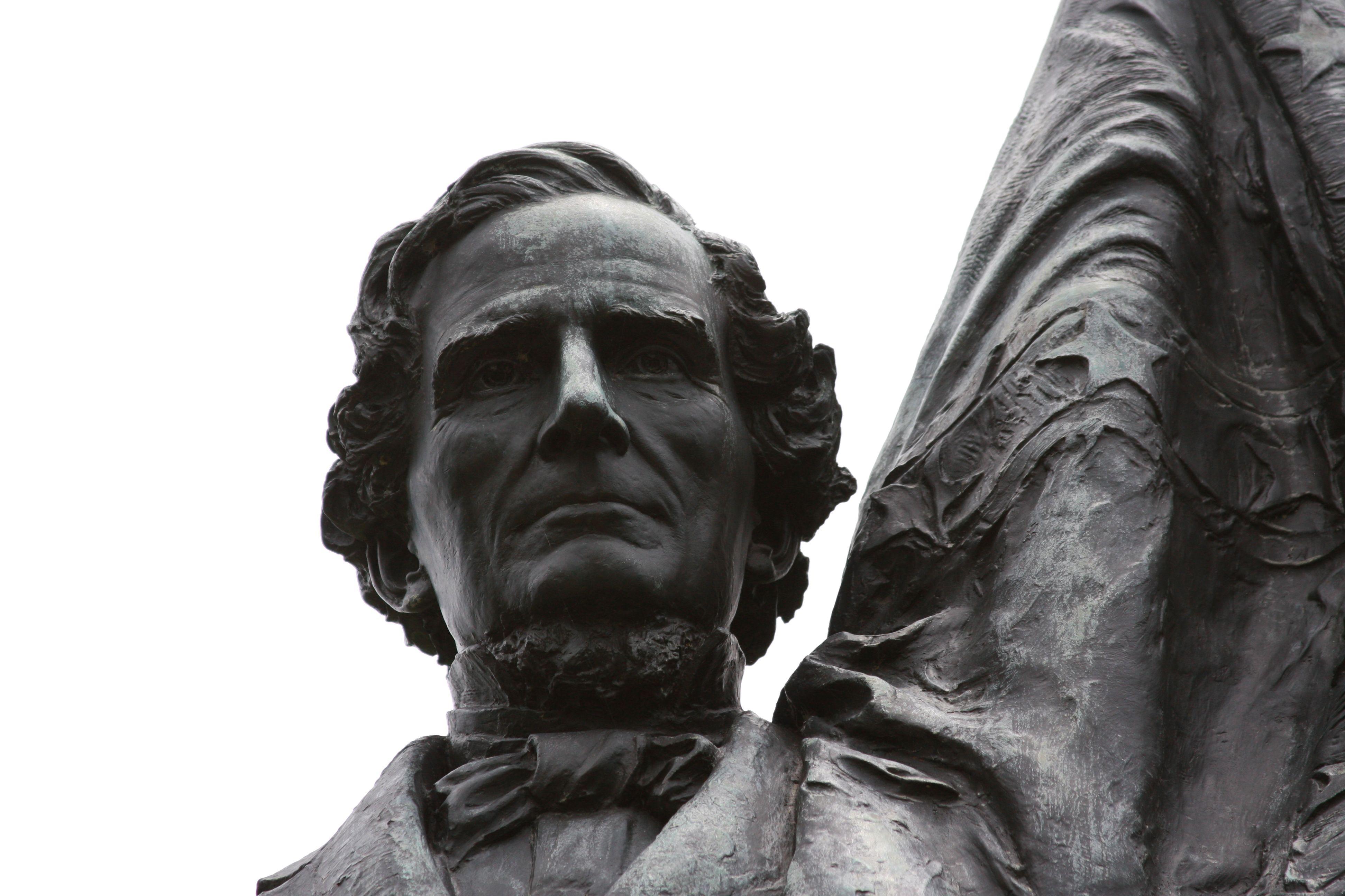President Jefferson Davis with the CSA colors.