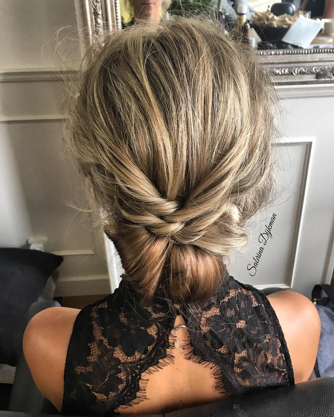 Top 20 Fabulous Updo Wedding Hairstyles: Fabulous Textured Updo Hairstyle