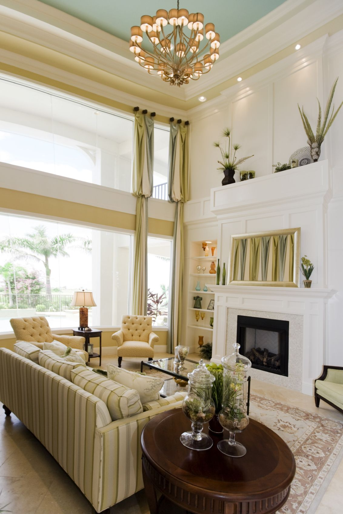 54 living rooms with soaring 2 story cathedral ceilings - Matchstick Tile Bedroom Decor