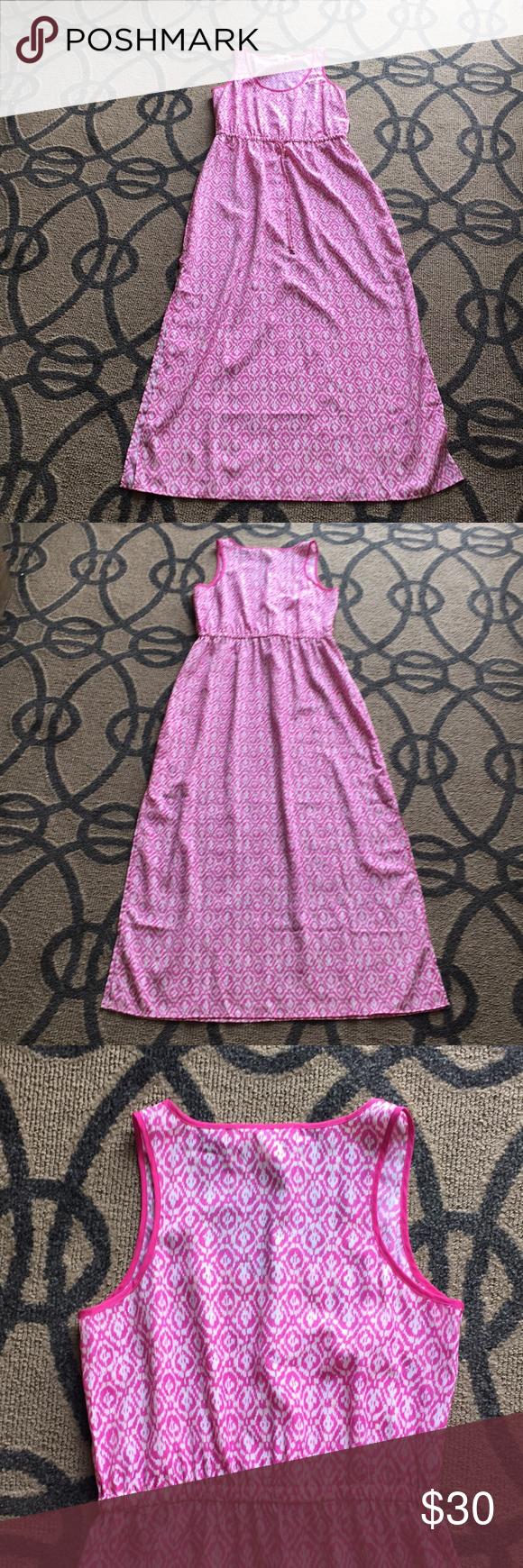 Michael kors ikat print pink maxi dress m my posh picks