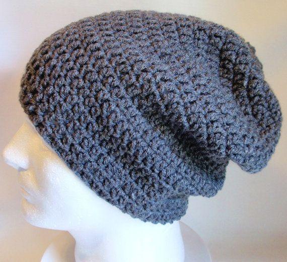 4598d087de2 Slouchy Beanie Gray Mens - Crochet Slouch Beanie Mens Grey Beanie ...