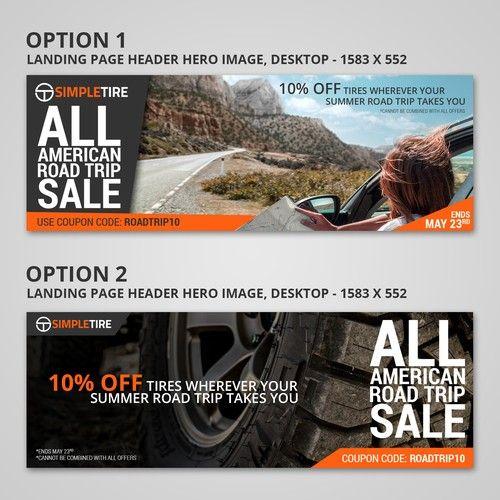 Simpletire Com All American Road Trip Banner Ad Design Portfolio