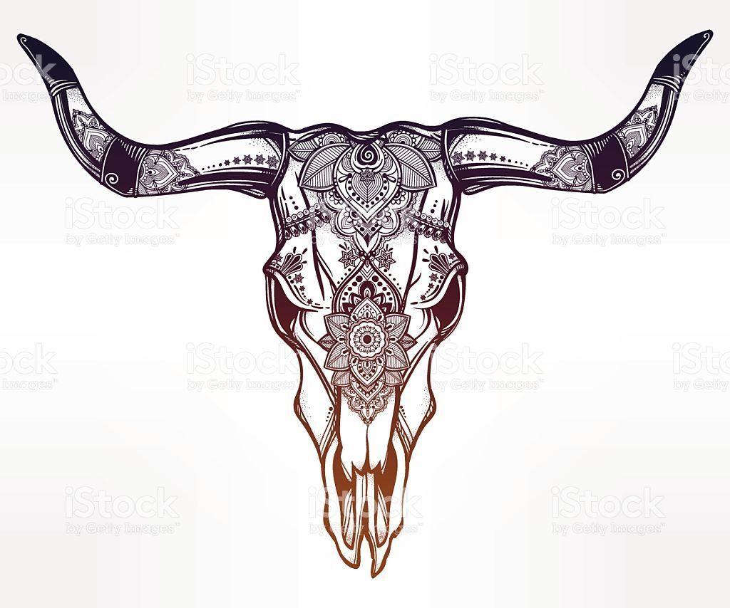 Resultat De Recherche D Images Pour Mexican Bull Skull Tatouages De Taureaux Tatouages Western Tatouage Romantique