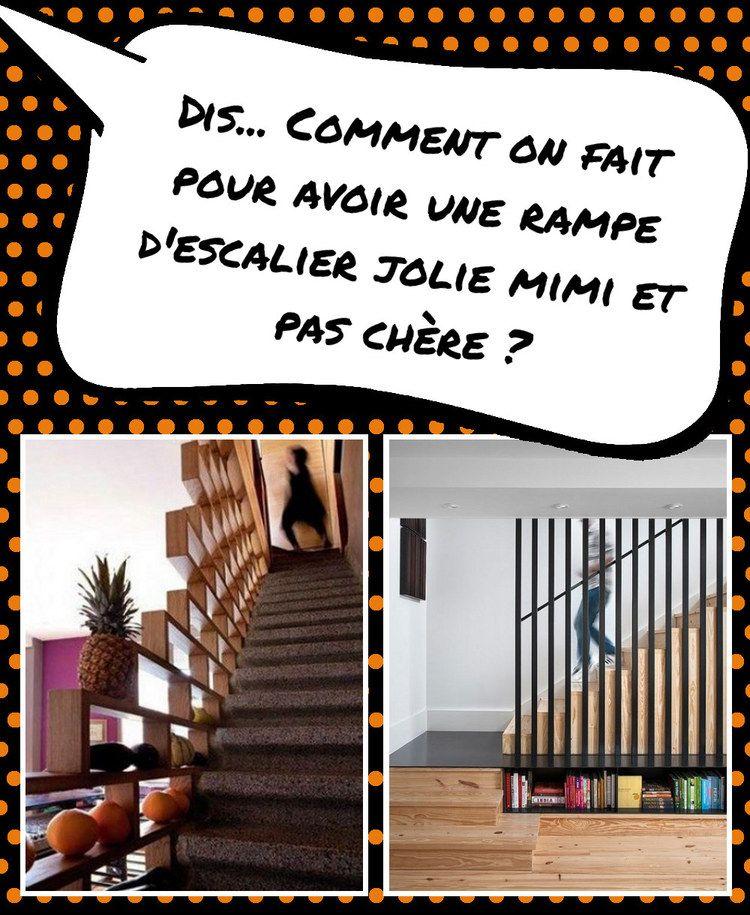 conseils et id es pour une rampe d 39 escalier et un garde corps d co et pas cher rampes. Black Bedroom Furniture Sets. Home Design Ideas