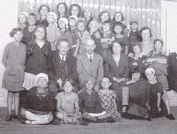 Dr. Korczak and Stefania with children, 1923