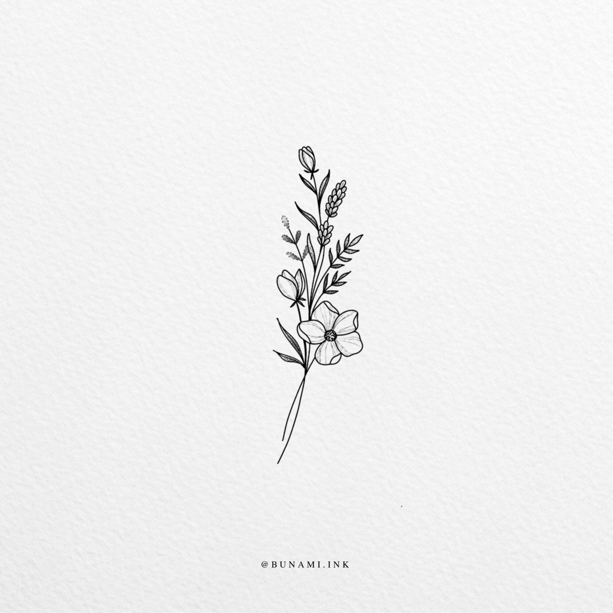 Small Flowers (Sold) – Bunami Ink – Small Flowers (Sold) – Bunami …