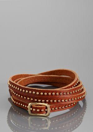 Faux leather wrap bracelet