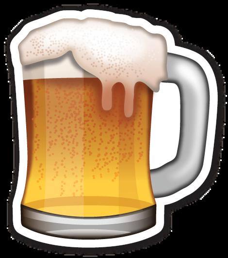 Beer Mug Emoticon Beer Emoji Stickers