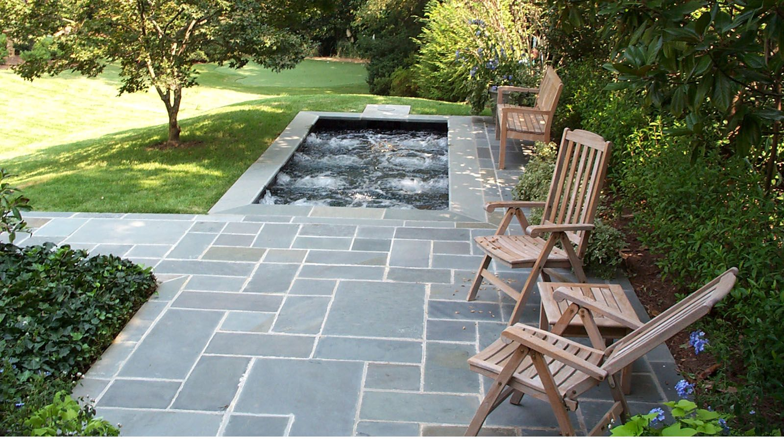 spa with pennsylvania blue stone patio | pool | pinterest ... - Spa Patio Designs