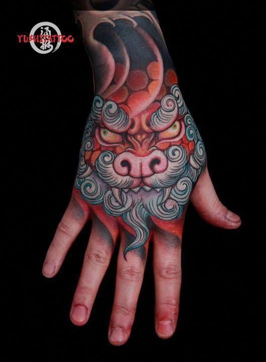 Foo Dog Tattoos Designs Fu Dog Meaning Japanese Tattoo Japanese Hand Tattoos Foo Dog Tattoo