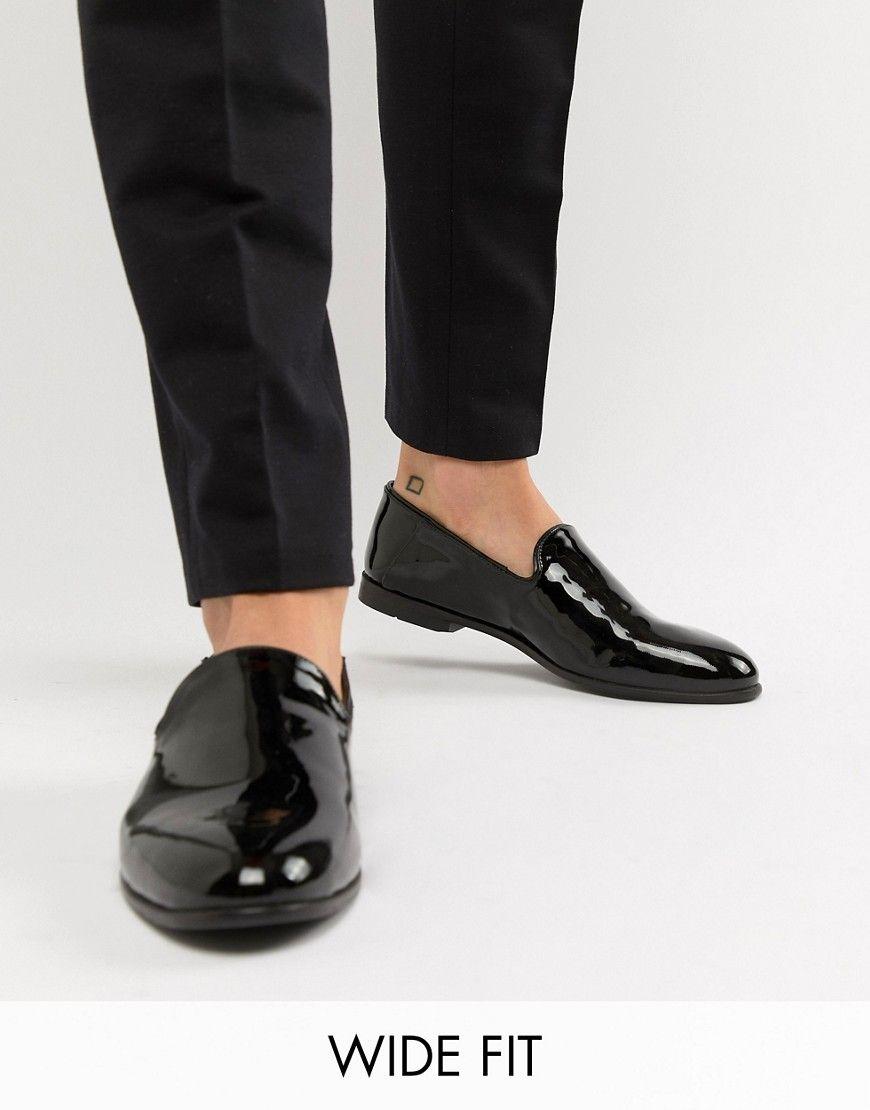 1b5d27e4d8e KG KURT GEIGER KG BY KURT GEIGER WIDE FIT PLAIN PATENT LOAFERS - BLACK.   kgkurtgeiger  shoes