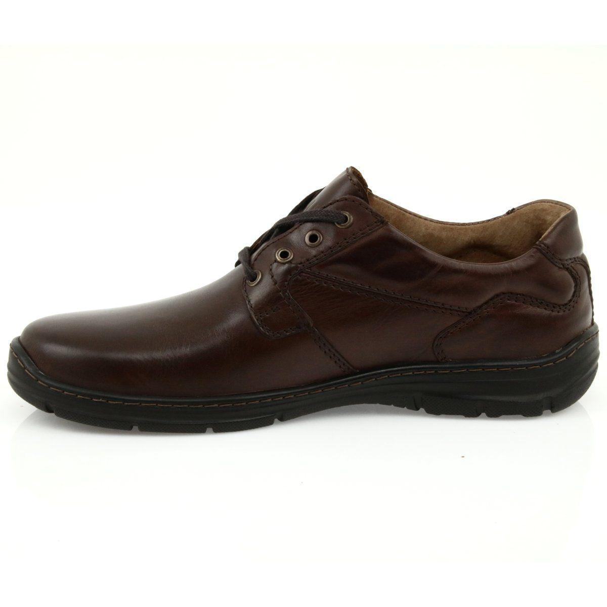 Badura Buty Meskie Komfort 3509 Brazowe Dress Shoes Men Oxford Shoes Chukka Boots
