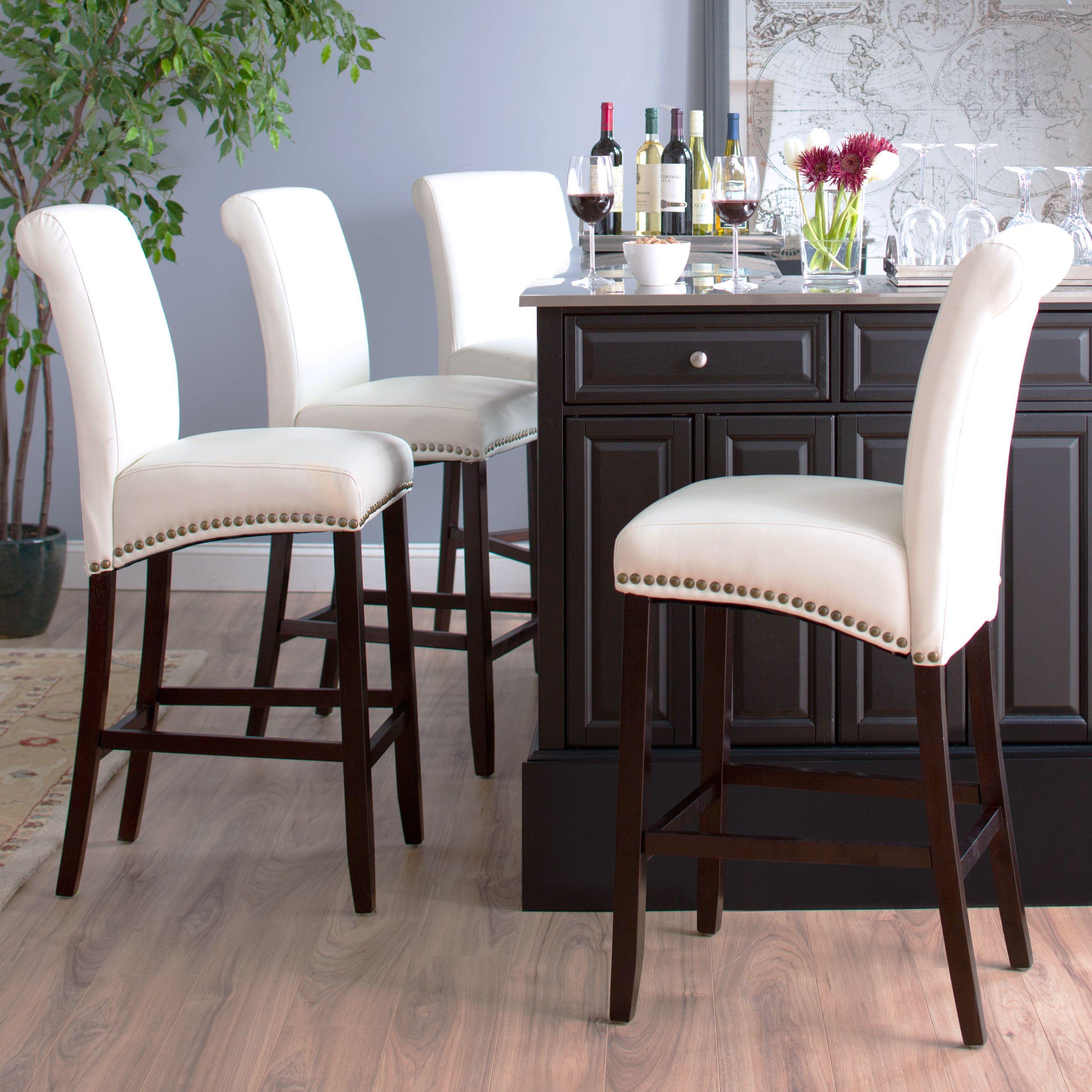 "Three Posts Mather 30"" Bar Stool & Reviews  Wayfair  Glam Home Gorgeous Dining Room Bar Furniture Inspiration Design"