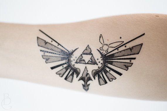 Small Zelda Temporary Tattoo Tattoos Tatouage Tatouage Zelda