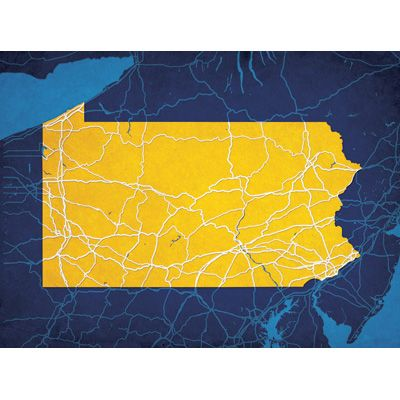 Pennsylvania - City Prints Map Art