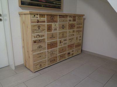 Weinkisten Möbel grosses sideboard hergestellt aus gebrauchten weinkisten möbel