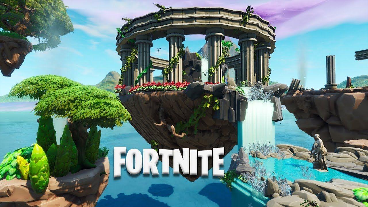 Fortnite 1v1 Arena Floating Island Temple (Speed Build
