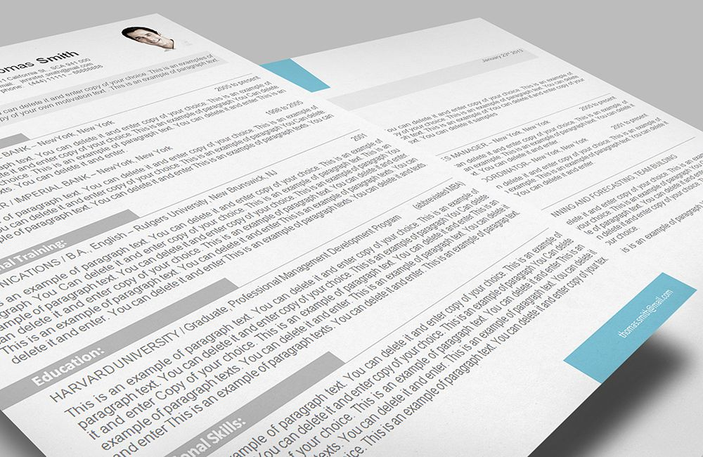 Resume Template Templates Give You Full Control Over Your Resume