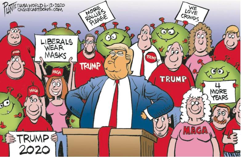 Trump's Crowd Tulsa World 6122020 oklahoma in 2020