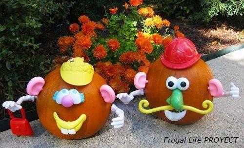 Calabazas decoradas de Frugal Life PROYECT