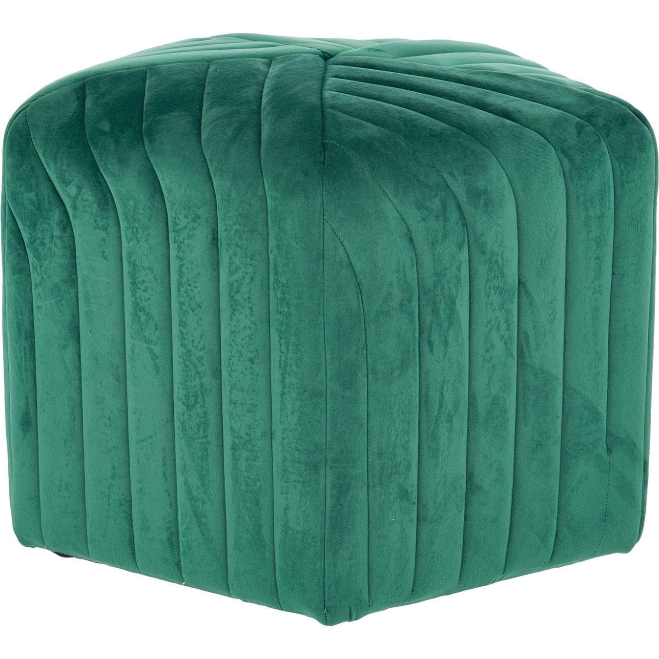 Forest Green Velvet Stool 40x51cm | Velvet stool, Home ...