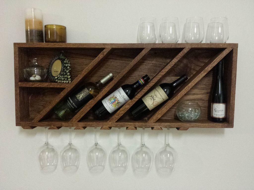 30 simple wall wooden wine rack design you can make furniture rh pinterest com