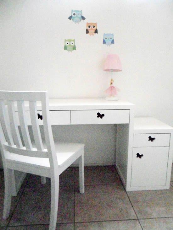 Escritorio de madera lacado blanco escritorios y - Escritorios en blanco ...