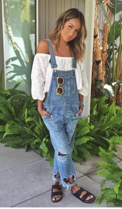 4e5f9540d783 Here s how you can have fashion blogger style all year long. Denim Dungarees  Outfit