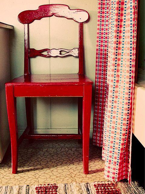 Swedish Stuga   Red chair, Beautiful furniture, Furniture