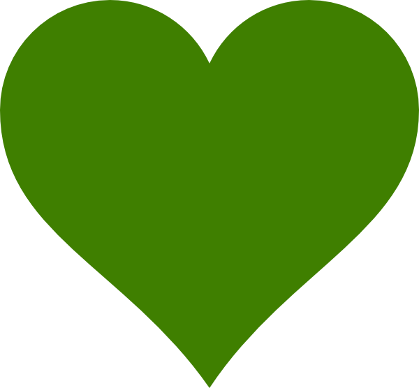 Green Heart Vector Png 600x556 Png Download Heart Clip Art Hand Embroidery Pattern Png