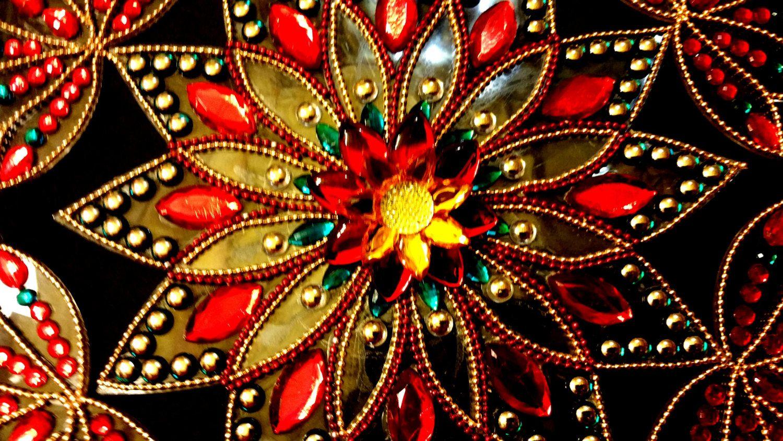 Rangoli, Kundan Rangoli, Indian Rangoli, Diwali, Home Decor, Traditional  Kundan Sticking
