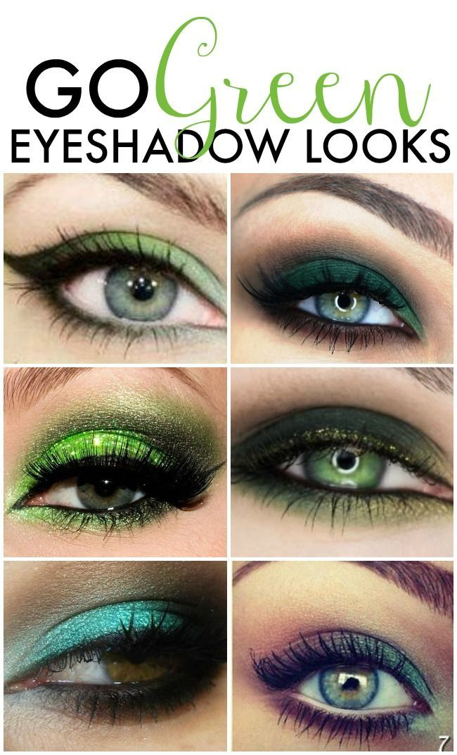 Go Green Green Eyeshadow Looks Green eyeshadow, Green