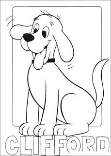 5 clifford the big red dog coloring pages for preschoolers