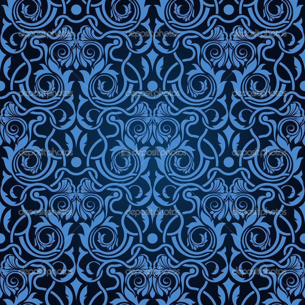 blue and black damask fabric Blue seamless wallpaper