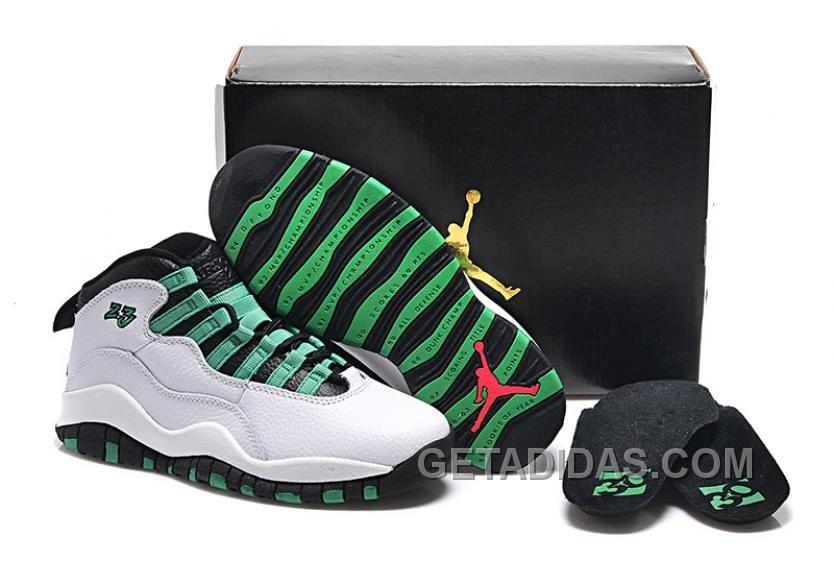Girls Air Jordan 10 Retro Verde For Sale Discount